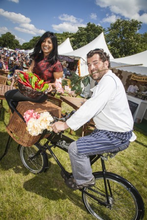 Chef Ed Baines and Angela Wilson launch Clapham Common Foodies Festival 2