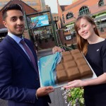 nathan-sanghera-brindleyplace-presents-chocival-cake-to-charlotte-anson-birmingham-st-marys-hospice