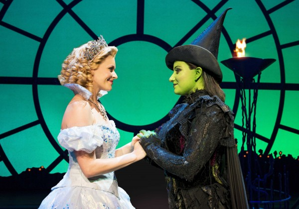 Wicked - Glinda and Elphaba (a previous cast). Photo credit Matt Crockett