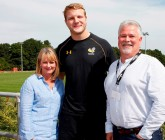 Rugby backers taste the action
